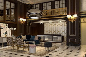 大型厂家出品的现代化四季酒店家具