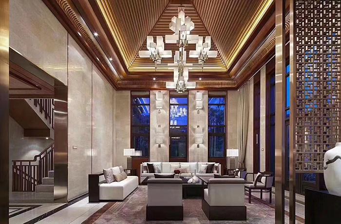 酒店样板房的大堂家具