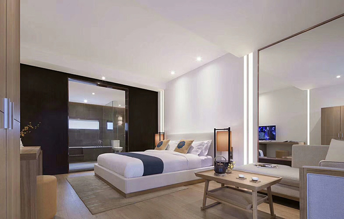 中式酒店客房家具整体图