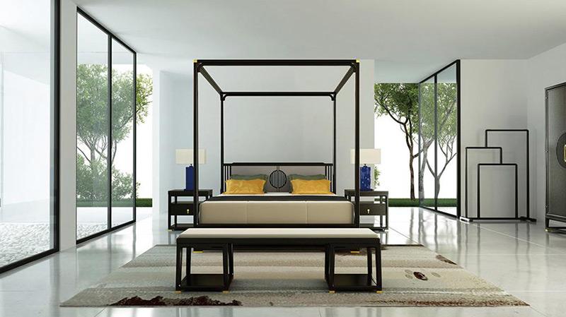 中式风格酒店客房家具